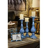 Turquoise Resin Pillar Candles Holders