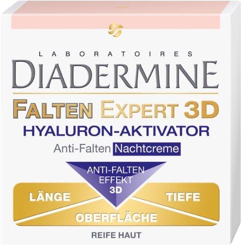 Genuine German Diadermine Wrinkle Expert 3D Hyaluronic Activator Anti Wrinkle Anti Age Night Care Cream 1.7oz....