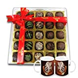 Chocholik Belgium Chocolate Gifts - Stunning Collection Of Truffles With Diwali Special Coffee Mugs - Diwali Gifts