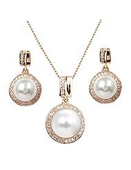 Round Pearl Jewellery Set