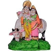 RADHA KRISHNA Resin Statue Idol Showpiece Murti Radha Krishan With Cow Lord Radha Krishna Antique Radha Krishan...