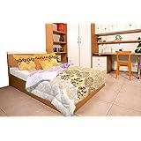 Stellar Home USA Verona Cotton Bedlinen With 2 Pillow Covers - Queen, Multicolor (807039150011)