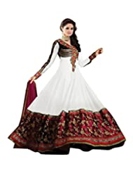Cozer Womens Georgette Anarkali Dress Material (Ewhfswd2 _White _Free Size)