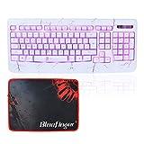 Adjustable 3Color LED Keyboard-BlueFinger® USB Wired Adjustable 3Color Illuminated Backlit Gaming Keyboard+BlueFingerÂ... - B017EK4ZWW