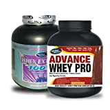 Whey Extreme 100% 1kg Chocolate& ADVANCE WHEY PRO 20gm Protein Per 33gm 2kg Chocolate Flavour (Combo Offer)