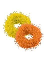 Sarah Yellow And Orange Rubber Band Set For Women