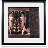 ArtDotz Matte Paper Meditating Buddha Art Frame (42 Cm X 42 Cm X 3 Cm, 63-11-O218-12-2920B)-Pack Of Two