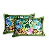 "Swayam Kids N More Digitally Printed Mercerised Cotton Standard Pillow Cover - 18""x28"", Multicolor - B00WTWO6XO"