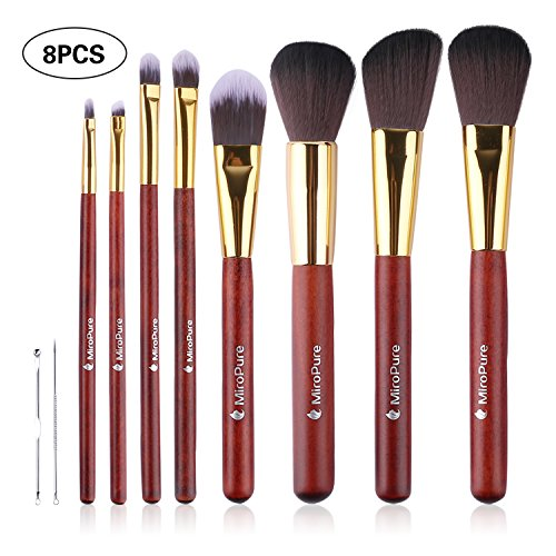 Professional Makeup Brush Set Kabuki Makeup Stichting Eyeliner Blush Contour Lip Concealer Cosmetic Skildersark foar Beauty blending Face Poeder Oogschaduw Wenkbrauw 8 PCs
