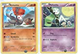 Meloetta (Pirouette and Aria Forme) - Rare/Promo Pokemon Card Set (Black & White #BW68 and #BW69)
