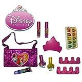 Disney Princess 19 Pcs. Cosmetic Ensemble Set Sequins Make Up Bag
