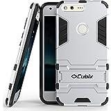 Armor Cubix Defender Case For Google Pixel Xl Case Back Cover ProCase Kickstand Hybrid Protective Cover Stand Armor Case For Google Pixel Xl Silver