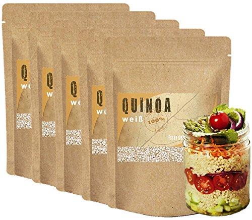 Quinoa 5kg (5000g) - Quinoa Samen **NEUE PREMIUM-Qualität** 5 kg (5000 g) Vegan Glutenfrei 100% natürlich und pflanzlich gesunde Nahrungsergänzung Proteine glutenfreie vegane Lebensmittel Kinoa Qinoa Quinoa Vollkorn High Carb low fat vegan Quinoa bestellen Quinoa Eiweiß Eiweißquelle Quinoa weiß Quinoa Frühstück Quinoa Inhaltsstoffe Quinoa Körner Quinoa Müsli Quinoa Porridge Quinoa Reis Quinoa Zubereitung vegane Lebensmittel im Supermarkt vegane Lebensmittel Liste gesunde Ernährung Lebensmittel