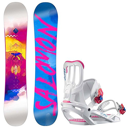 Damen Snowboard Set Salomon Lotus 138 + Spell S 2017 Snowboard Set
