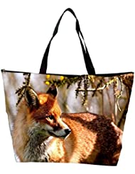Snoogg Abstract Fox Designer Waterproof Bag Made Of High Strength Nylon