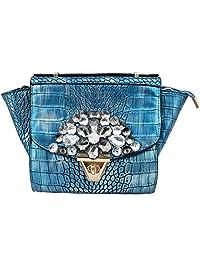 Super Drool Blue P.U. Sling Bag