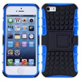 DMG Premium Rubberized Firm Grip Heavy Duty Kickstand Case For Apple IPhone 5/5S (Blue)