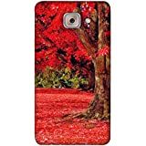 PrintVisa Designer Back Case Cover For Samsung Galaxy On Max (Red Green Brown Long Tree)