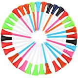 Tinksky Golf Tees-Rubber Cushion Top Plastic Golf Tees 85mm 100pcs Random Color