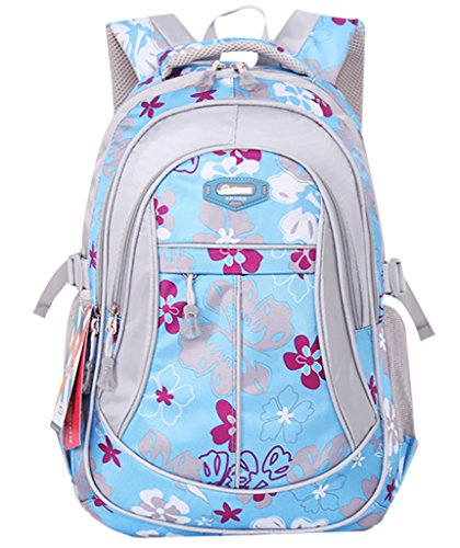 JiaYou Kid Child Girl Flower Printed Waterproof Backpack School Bag