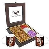 Chocholik Premium Gifts - Ideal Match Of Almonds & Belgium Chocolate Rocks With Diwali Special Coffee Mugs - Diwali...