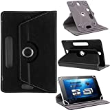 Smm 360° Rotate Dual Stand Black Tablet Flip Cover For Micromax Canvas Tab P702 , Tablet Flip Case For Micromax Canvas Tab P702 , Tablet Cover For Micromax Canvas Tab P702