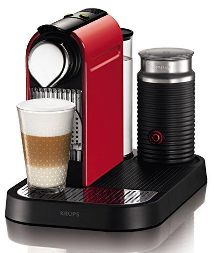 Nespresso Citiz & Milk Red XN7305P4 Krups - Cafetera monodosis...