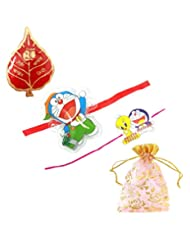 Ammvi Creations Combo Of Two Doraemon Rakhi For Kids