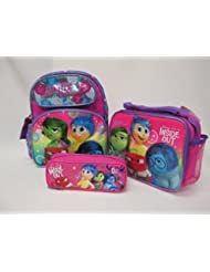 "Inside Out Disney Pixar Preschool Medium 12"" Backpack Book Bag, Lunch Box & Pencil Pouch"