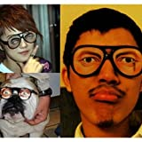 Men's New Funny Jokes Glasses With Eyebrow Trick Toys Party Props for next year Halloween and April Fool's Day