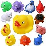 Wish Key Baby Bath Toys-Set Of 12 For Boys Girls Kids Baby