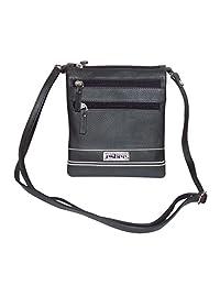 Leather Women's Crossbody Sling Bag (Black) - B01DHYP0LO