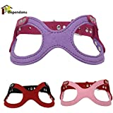 Alcoa Prime Dog Soft Adjustable Harness Glasses Shape Pet Large Dog Walk Out Harness Vest Collar Hand Strap For Small And Large Dogs