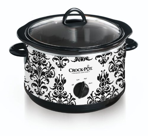 Crock Pot Slow Cooker, Black D...