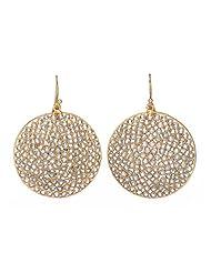 Amethyst By Rahul Popli White Gold Plated Dangle & Drop Earrings - B00OYSB9RM