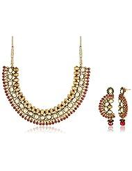 Sia Art Jewellery Gold Plated Jewellery Set For Women (Golden) (AZ2910)