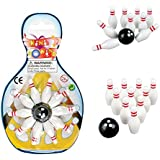 Deluxe Miniature Bowling Game Set - For Kids, Playing, Party, Fun, Boys, Girls, Bowlers Etc.- Kidsco