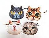 Gossipgirl Animals Cat Face Small Zipper Purse-Puppet cat