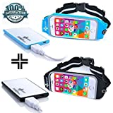 2x Pack Running Belt For IPhone 6, 6S, 6 Plus, 6S Plus, Samsung Galaxy S5, S6, S7, Note 4, 5, LG G3, G4 , Waterproof...