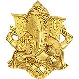 Utsav Kraft Brass Ganesh Wall Hanging (20 Cm X 4 Cm X 23 Cm, Bronze)