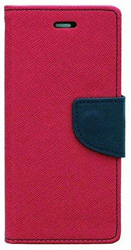 RJR Mercury Goospery Wallet Style Flip Back Case Cover For Asus Zenfone C-Pink&Blue