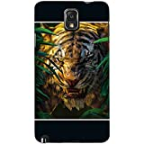 For Samsung Galaxy Note 3 :: Samsung Galaxy Note III :: Samsung Galaxy Note 3 N9002 :: Samsung Galaxy Note N9000 N9005 Dangerous Tiger ( Dangerous Tiger, Tiger, Black Background ) Printed Designer Back Case Cover By FashionCops