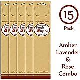 Panchratan Perfumed Charcoal Incense Sticks ( Pack Of 15, 23cms, Amber, Lavender And Rose Fragrance )