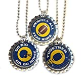 Football Fan Navy And Gold School Colors Set Of 3 Necklaces