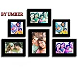 UMBER Family Memory Wall Photo Frame - Set Of 6 Individual Photo Frame (Black)