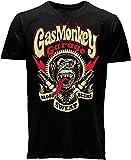 """Gas Monkey Garage Oficial """"Sparkplugs"""" Camiseta, L, Negro."""