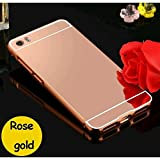 D-kandy Aluminum Metal Bumper With PC Mirror Back Cover Case For Xiaomi Mi 5 - ROSE GOLD
