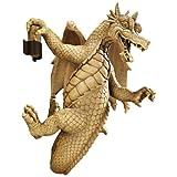 Design Toscano EU35085 Dread The Dangling Dragon Wall Sculpture In Faux Stone