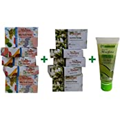 Mxofere Natural Handmade Mix Fruit Soap Jasmine Soap And Neem Tulsi & Tea Tree Face Wash Combo Kit(Pack Of 11)