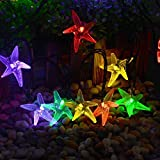 Xjamus Starfish Solar String Lights, 20ft 30 LED Fairy Christmas Lights Decorative Lighting For Indoor/Outdoor...